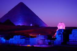 Pirámide de Giza, espectáculo de luz y sonido desde El Cairo