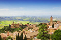 One Way Private Transfer: Florencia a Roma con la visita a Montalcino y Valle de Orcia