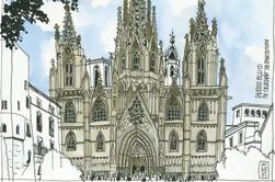 Taller de arte guiado por el Barrio Gótico de Barcelona