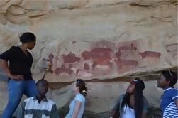 Excursão das pinturas da rocha do Bushman de Kamberg de Durban