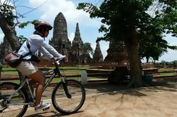 Banguecoque para Ayutthaya pela bicicleta da estrada