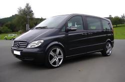 Private Ankunft Transfer: London Luton Flughafen nach Central London in einem Luxus Van
