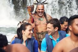 Haruru Falls y Waitangi River Tour en un tradicional Waka maorí con guía